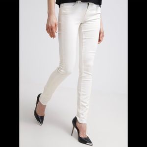 G-Star Raw 3301 Contour High Skinny White Jeans